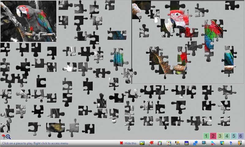 Jigsaw puzzles in Black and White mode, challenging and rewarding