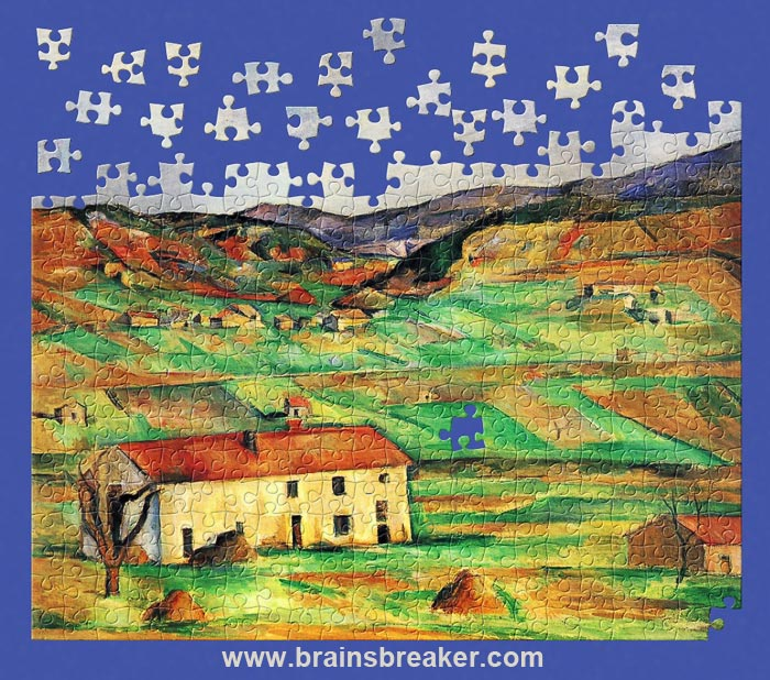 Click the link below to download this puzzle from a painting by Paul C�zanne </br> -Around Gardanne- (image from the Yorck Project)