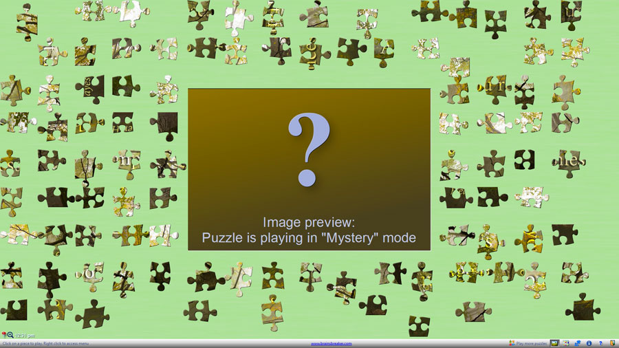96 pieces in mystery mode and rotable pieces, a new challenge from BrainsBreaker