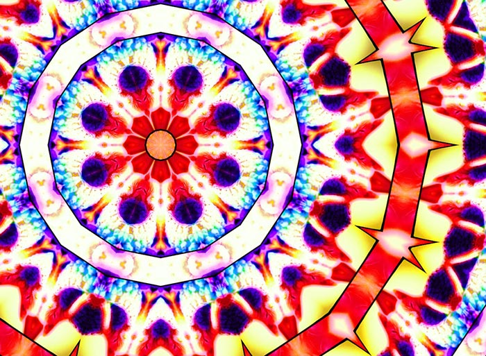 Kaleidoscope image from PhotoEchoes.