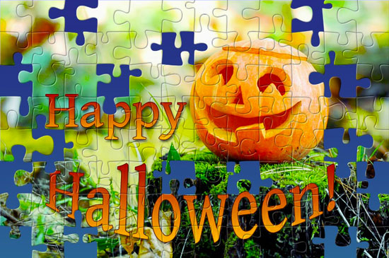 Solve this Halloween jigsaw puzzle from BrainsBreaker