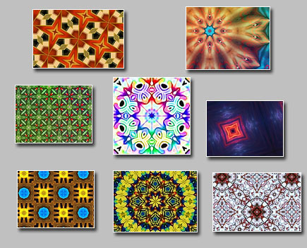 The new free pack with kaleidoscopic images