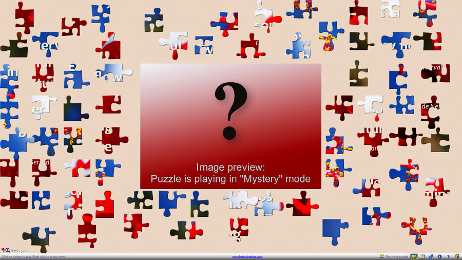 A gift puzzle free for all, in mystery mode and with a quote.