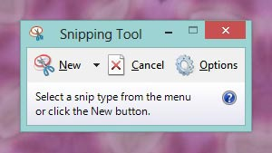 "The ""Snipping Tool"" app in Windows"