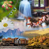 "New large set of 40 jigsaw puzzles ""Miscellaneous 5"" with all kind of stuff: flowers, landscapes, human made objects... Nice assortment for a fun experience"