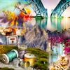 Enjoy a new pack of jigsaw puzzles with 40 pictures of all kinds: landscapes, animals, food, objects... A fun filled pack!