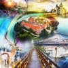 Time for a new pack of jigsaw puzzles! We start a new serie, the Tale Imagery 2: amazing castles, landscapes and animals