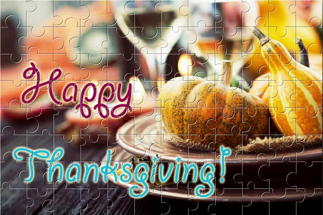 Assemble this Thanksgiving puzzle from BrainsBreaker