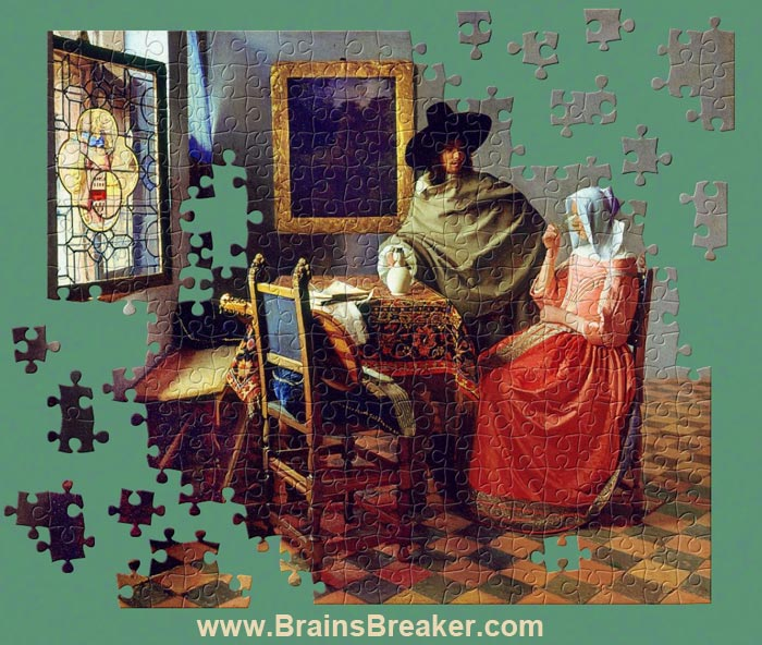 Click the link below to download this puzzle from a painting by Johannes Vermeer